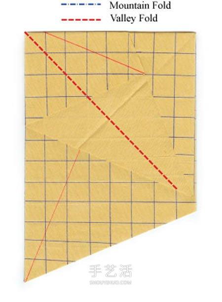 卷心玫瑰花的折纸步骤 手工卷心纸玫瑰的折法(2)