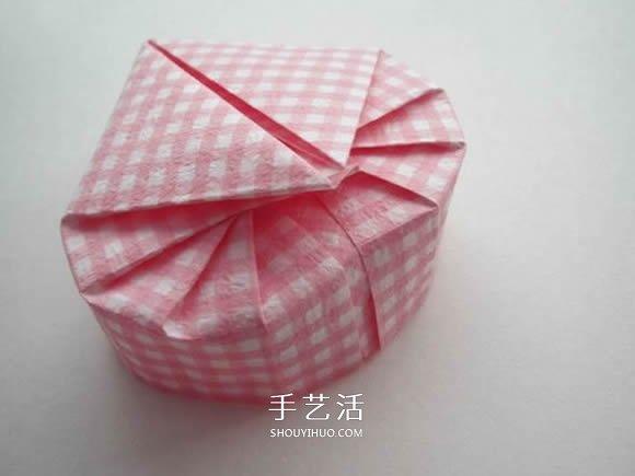 爱心盒子的折法有盖 折心形纸盒的步骤图解 3