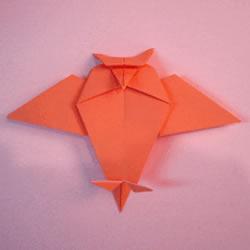 儿童手工折纸蝙蝠图解 简单小蝙蝠折叠教程
