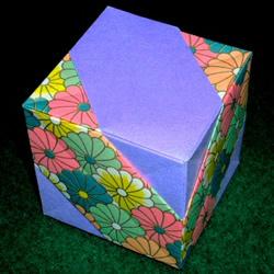 立方体怎么折图解教程 手工折纸立方体的步骤