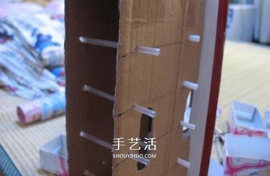 自制带抽屉首饰盒方法 饮料盒和纸箱做收纳盒 -  www.shouyihuo.com