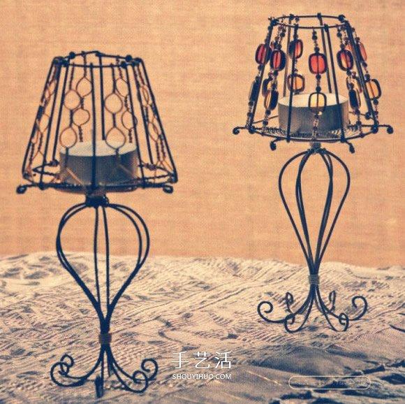 铝线手工烛台的制作方法 优雅的欧式灯具造型 -  www.shouyihuo.com