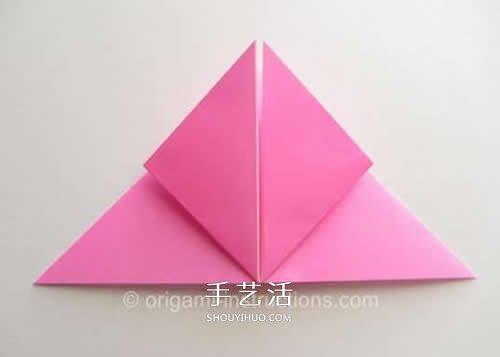 旋转玫瑰怎么折图解 手工旋转的玫瑰花折纸 -  www.shouyihuo.com