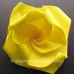 新旋转玫瑰花的折法 折纸旋转玫瑰的步骤图