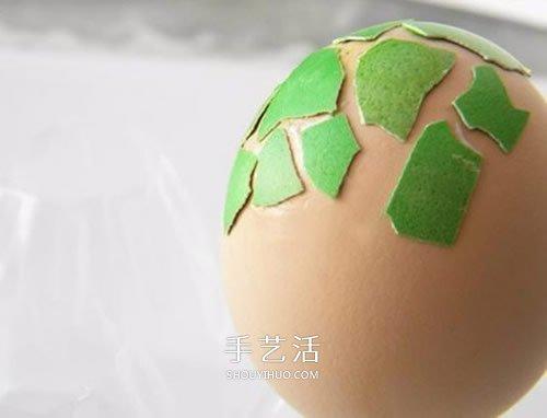 蛋壳贴画手工制作图片 简单贴出漂亮的彩蛋