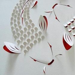 简洁美好的立体纸雕作品 有种返璞归真的美