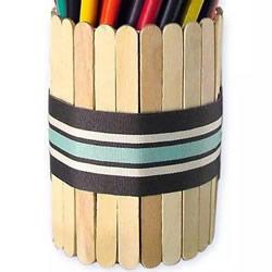雪糕棍制作圆形笔筒 DIY冰棒棍笔筒的做法