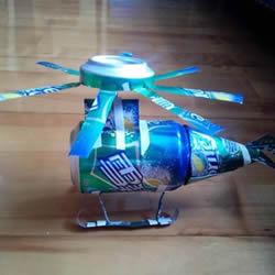 易拉罐做直升飞机模型 手工易拉罐直升机模型