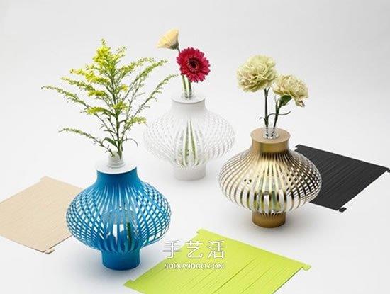 卡纸做花瓶套的图片 自制纸花瓶套的方法 -  www.shouyihuo.com