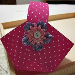 可爱小纸篮子的做法 卡纸篮子手工制作教程