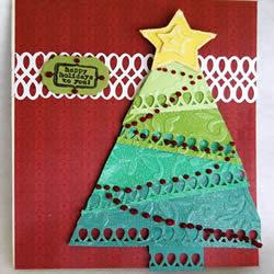 漂亮圣诞树贺卡制作方法 给朋友送上真诚祝福