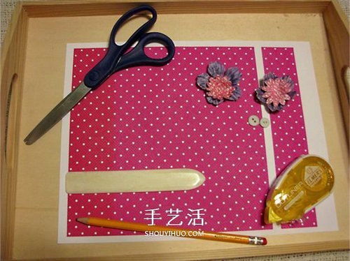 可爱小纸篮子的做法 卡纸篮子手工制作教程图片