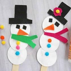 简单又可爱雪人的做法 幼儿手工制作圣诞雪人