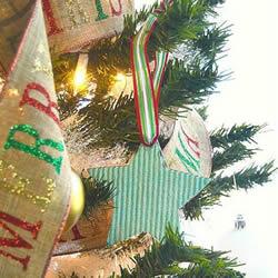 简单又漂亮圣诞星星DIY 自制圣诞树挂饰星星