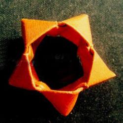 中空立体五角星的折法 折纸五个角立体星星