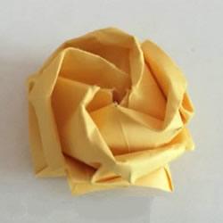 怎么折川崎玫瑰花图解 详细川崎玫瑰折纸过程