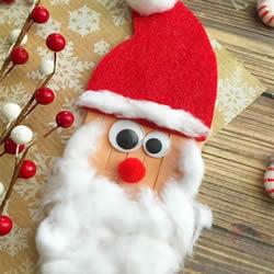 雪糕棍手工制作圣诞老人 幼儿做圣诞老人教程