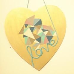 爱情表白的爱心挂饰DIY 把爱用浪漫的方式传递