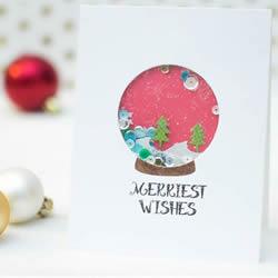 唯美圣诞雪景卡片DIY 漂亮圣诞节卡片小制作