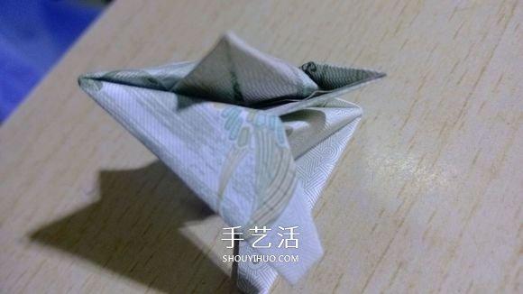 一元纸币折纸六角星 复杂纸币六角星星折法 -  www.shouyihuo.com