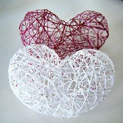 情人节镂空的心DIY 简单立体爱心装饰制作