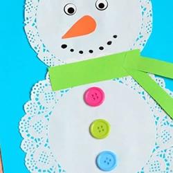 圣诞雪人卡片手工制作 自制卡通圣诞卡片教程