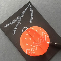 自制圣诞彩球贺卡做法 立体圣诞节彩球贺卡DIY