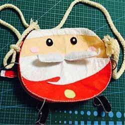 不织布制作圣诞老人包包 布艺卡通圣诞包做法