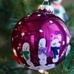独一无二圣诞球做法 自制雪人圣诞球挂饰教程