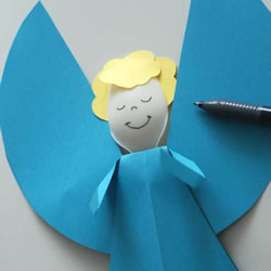 一次性勺子做小天使 圣诞节可爱天使手工制作