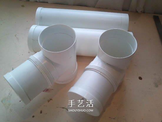 自制T型管道饲料器教程 鸡的喂食器做法图解 -  www.shouyihuo.com