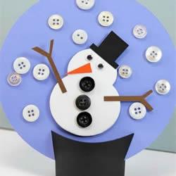 冬天雪人装饰摆件的做法 卡纸制作雪人装饰品