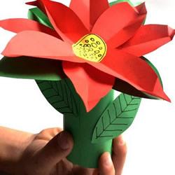 剪纸制作圣诞花的方法 圣诞节圣诞花装饰DIY