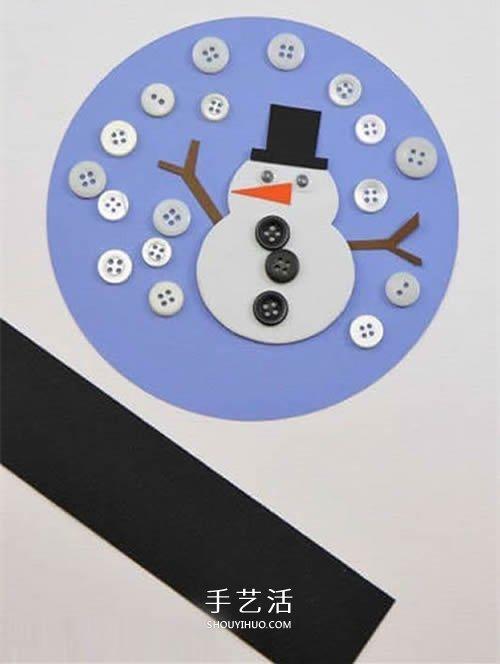 冬天雪人装饰摆件的做法 卡纸制作雪人装饰品 -  www.shouyihuo.com