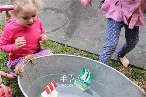 清洁海绵做帆船的办法 幼儿园海绵小舟制造 -  www.shouyihuo.com