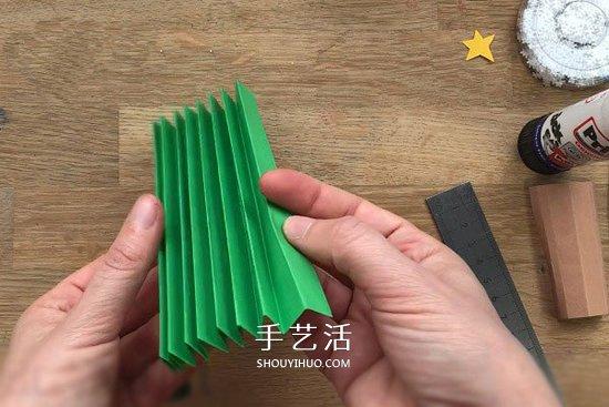 圣诞树立体贺卡做法 手工立体圣诞树贺卡制作 -  www.shouyihuo.com