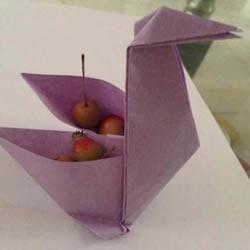 折纸千纸鹤收纳盒教程 可当盒子的千纸鹤折法