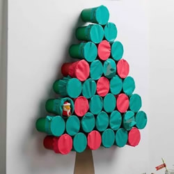 内藏礼物的圣诞树DIY 创意纸杯圣诞树制作