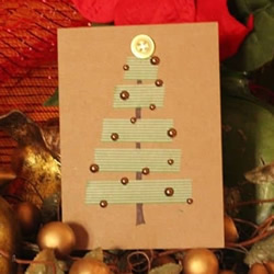 用胶带纸贴出圣诞贺卡 最简单圣诞节贺卡DIY