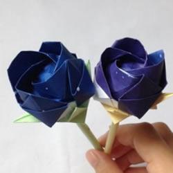 川崎玫瑰的经典折法图解 怎么折川崎玫瑰花教程