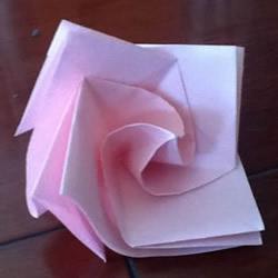 小清新旋转玫瑰的折法 带图解和实拍步骤