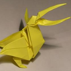 喜欢捕食鱼类的立体鹈鹕折纸方法图解