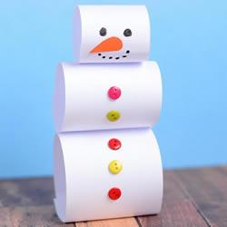 幼儿园手工小制作 简单做可爱的立体雪人教程