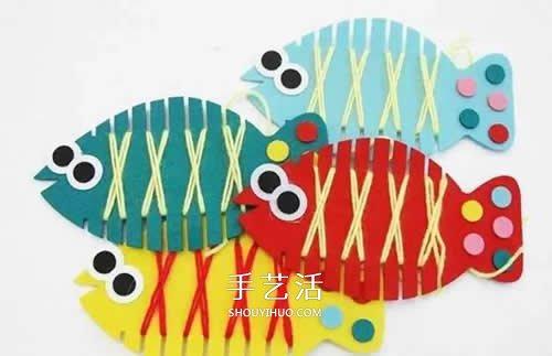 幼儿园手工小制作 各种可爱小鱼的简单做法
