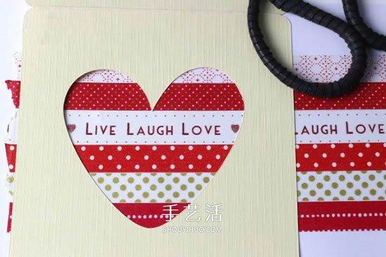 爱心励志卡片制作图解 也可用在情人节等节日 -  www.shouyihuo.com
