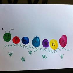 简单的幼儿手指画 做一张可爱的感恩节贺卡