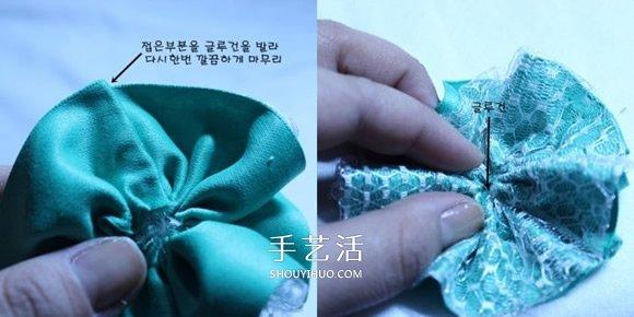 洛丽塔风格的蕾丝蝴蝶结发卡手工制作图解 -  www.shouyihuo.com