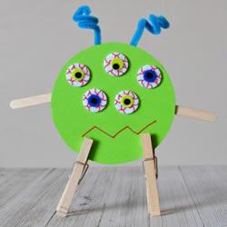 幼儿万圣节小怪物DIY 旧光盘废物利用做怪物