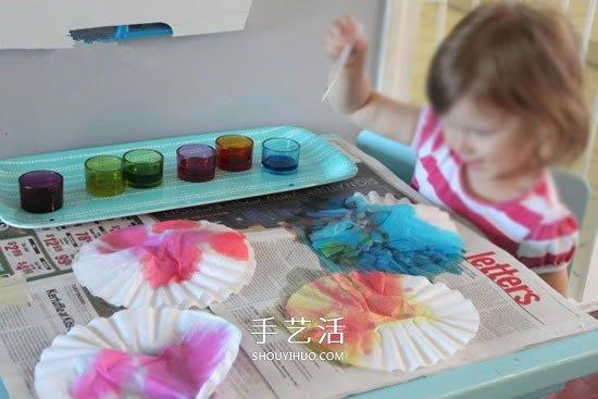 蛋糕纸做花小制作 适合爱手工的幼儿园小朋友 -  www.shouyihuo.com