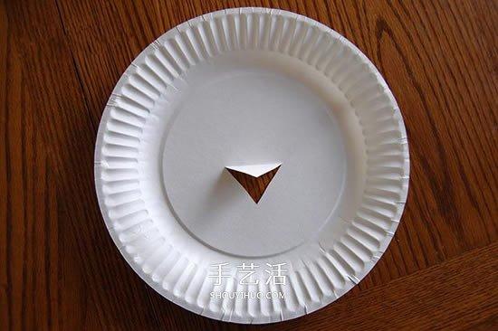 感恩节的废物利用小制作 用纸餐盘做漂亮火鸡 -  www.shouyihuo.com
